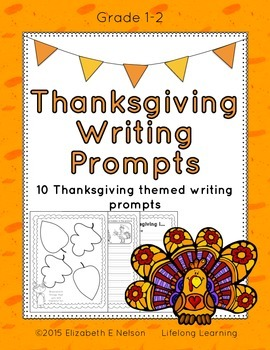 Thanksgiving Writing Prompts: Grades 1-2
