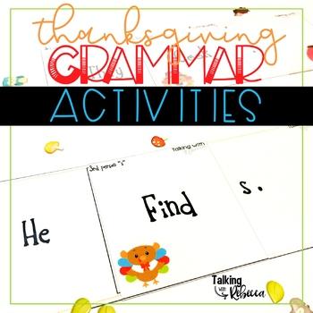 Thanksgiving Grammar Activities for Speech Therapy