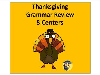 Thanksgiving Grammar Centers - 8 Centers