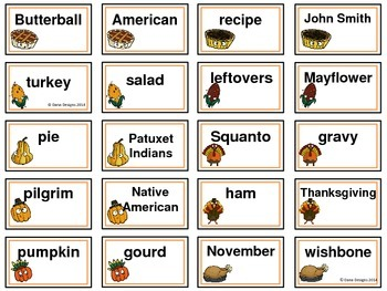 Thanksgiving Grammar - Common and Proper Nouns
