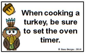 Thanksgiving Grammar - Compound and Complex Sentences