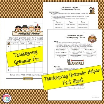 Thanksgiving Grammar Thanksgiving Math and Thanksgiving Geography Fun
