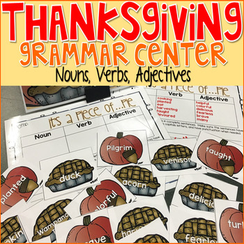 Thanksgiving Grammar Nouns, Verbs, Adjectives Game