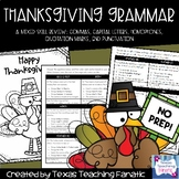 Thanksgiving Grammar Review with Coloring Page