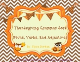 Thanksgiving Grammar Sort