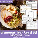 Thanksgiving Grammar Task Cards