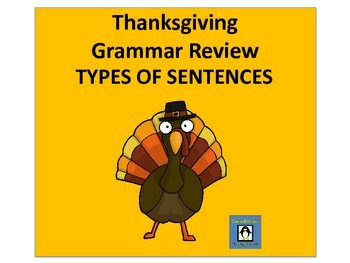 Thanksgiving Grammar - Types of Sentences