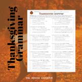 Thanksgiving Grammar Worksheet