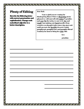Thanksgiving Grammar Worksheet Packet