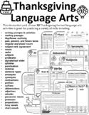 Thanksgiving Grammar Worksheet Thanksgiving Grammar Activi