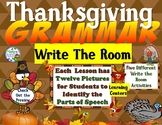 Thanksgiving Grammar Write the Room Activities