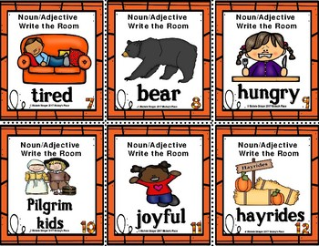 Thanksgiving Grammar  Write the Room:  Noun and Adjective