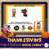 Thanksgiving Grammar and Vocabulary Boom Cards™