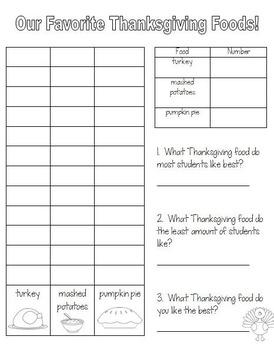 Thanksgiving Graph Craftivity!