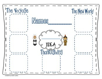 Thanksgiving Graphic Organizer