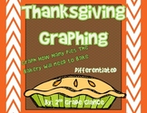 Thanksgiving Graphing-  Differentiated -Help The Bakery Graph Pies!