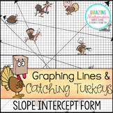 Thanksgiving Math Activity Graphing Lines and Turkeys ~ Slope Intercept Form