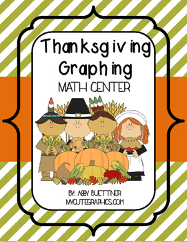 Thanksgiving Graphing Math Center