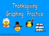Thanksgiving Graphing Practice for Kindergarten