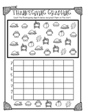 Thanksgiving Graphing Worksheet