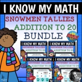 Snowmen Tallies - Addition to 20 Boom Cards™ Bundle