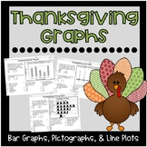 Thanksgiving Graphs {Bar Graphs, Pictographs, Line Plots}