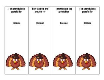 Thanksgiving Grateful Bookmark