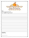 Thanksgiving Gratefulness Letter