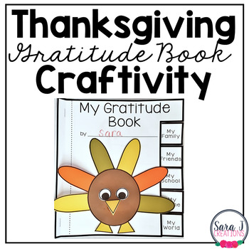 Thanksgiving Gratitude Book and Craftivity