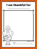 Thanksgiving Gratitude Drawing & Coloring Worksheet