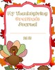 Thanksgiving Gratitude Journal Writing Activity