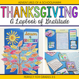 Thanksgiving Activity - Gratitude Lapbook with Writing Prompts 3rd 4th 5th