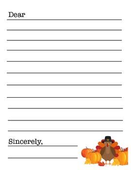 Thanksgiving Gratitude Letter