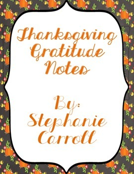 Thanksgiving Gratitude Notes