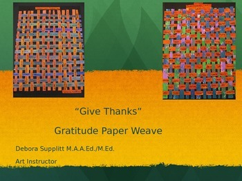 Thanksgiving Gratitude Paper Weave: Give Thanks