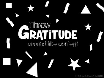 Thanksgiving Gratitude Placemat