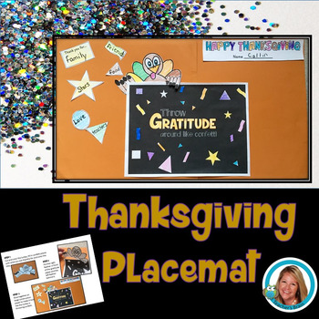 Thanksgiving Gratitude Placemat