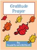 Thanksgiving Gratitude Prayer Reflection