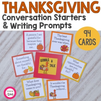 Thanksgiving Gratitude Questions, Prompts and Activities