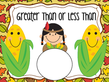 Thanksgiving Greater Than or Less Than