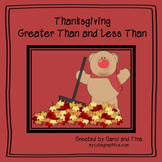 Thanksgiving Greater and Less Than Practice