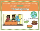 Thanksgiving Green Screen Activity for Distance Learning- Who is at the Door?