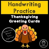Thanksgiving Handwriting Practice with Handwriting Without