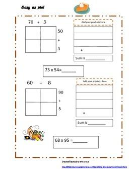 Thanksgiving Grid Multiplication