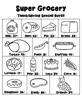 Thanksgiving Grocery Ad Level A