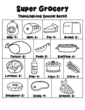 Thanksgiving Grocery Ad Level C