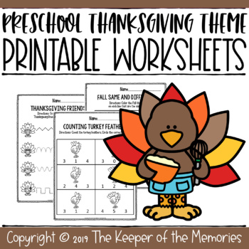 Thanksgiving Growing Bundle Preschool Worksheets