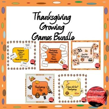 Thanksgiving Growing Games Bundle