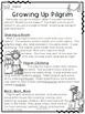 Thanksgiving- Growing Up Pilgrim: Non-fiction Text and Activities for Grades 1-3