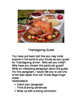 Thanksgiving Guest